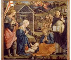 Natività con San Giorgio e San Vincenzo Ferrer' di Filippo Lippi