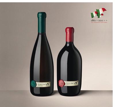 Bottiglia dell'Unità d'Italia