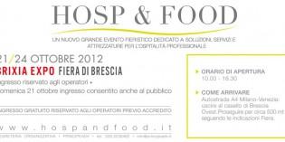 Brescia – fino al 24 ottobre: HOSP & FOOD