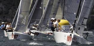 Torbole (Tn): Le barche della flotta MELGES in gara a Torbole con i grandi skipper della vela olimpica