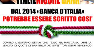 """""""ITALIENISCH BANK""""<br>DAL 2014 """"BANCA D'ITALIA"""" POTREBBE ESSERE SCRITTO COSI'."""