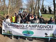 Lonato del Garda: Il  COMITATO CAMPAGNOLI in marcia sabato 31 gennaio 2015 per dire NO al progetto della Valli spa