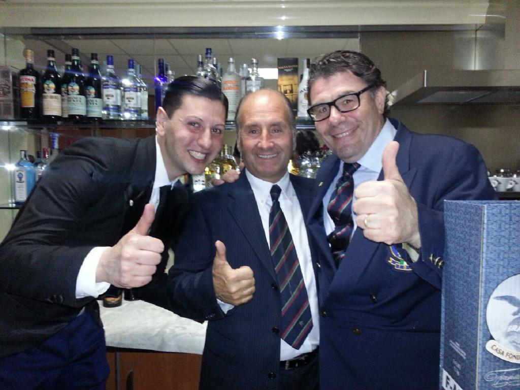 Luca Zucchelli e Paolo Andreis, al centro Diego Lombardo