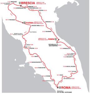 Mille Miglia 2015- il percorso completo tappa per tappa-2