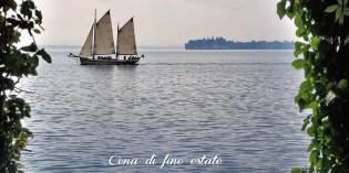 """Padenghe sul Garda: """"I colori del lago, cena di fine estate"""" primo evento di Social Eating pieds dans l'eau sul Garda"""