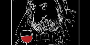 Un Bardolino con un'etichetta di Sergio Staino per Francesco Guccini al Premio Tenco 2015 dal 22 al 24 ottobre