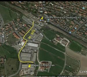 distanza Magazzini com. a Stazione Desenzano