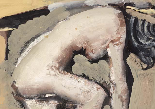 Nudo bianco (dettaglio), (1946 - 1947), tempera su tavola, Mart, Collezione Allaria