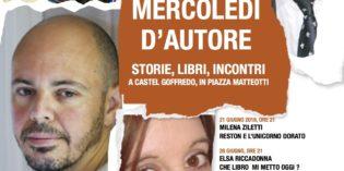 """Castel Goffredo: dal 21 giugno al 26 luglio """"Mercoledì d'autore 2017"""". Storie, libri e incontri"""