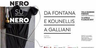 "Firenze – ""NERO SU NERO"". Da Fontana e Kounellis a Galliani"