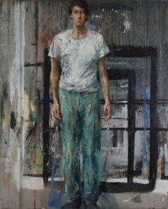 5 - Velasco Vitali.Ritratto-autoritratto.Retro.1988.olio_su_tavola(251x200cm)
