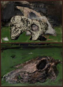 8 - Giancarlo Vitali.Paleontologia.1991.tempera(32x24cm)