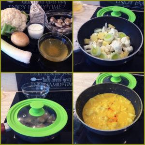 preparazione zuppa zafferano di desenzano