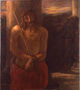 Gaetano Previati (1852-1920), Via Crucis: Gesù coronato di spine, olio su tela, 1901-1902, Musei Vaticani, Collezione d'Arte Religiosa Moderna, opera non esposta, dopo restauro