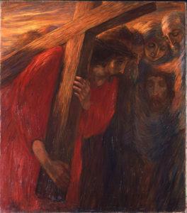 Gaetano Previati (1852-1920), Via Crucis: La Veronica, olio su tela, 1901-1902, Musei Vaticani, Collezione d'Arte Religiosa Moderna, opera non esposta, dopo restauro