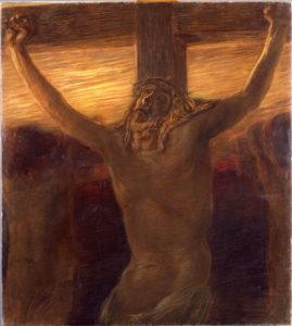 Gaetano Previati (1852-1920), Via Crucis: Crocifissione, olio su tela, 1901-1902, Musei Vaticani, Collezione d'Arte Religiosa Moderna, opera non esposta, dopo restauro