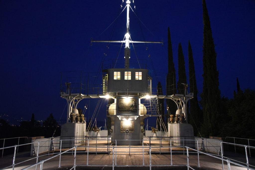 Vittoriale di notte illuminato con nuove luci Led da A2A Ph Christian Penocchio