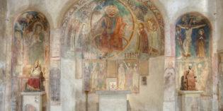 SAN PIETRO IN MAVINO: restauro degli affreschi in corso